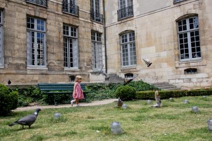 A garden On the Rue des Francs Bourgeois between Rue Pavée and Rue de Sévigné (across from Le Musée Carnavalet